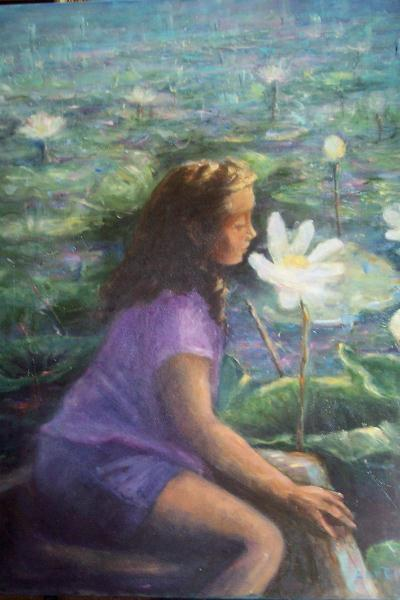 Girl In The Water Lilies