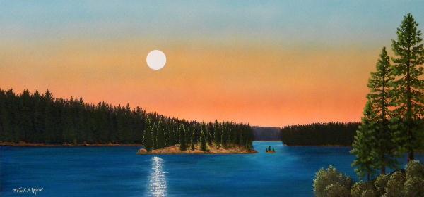 Moonrise Over The Lake