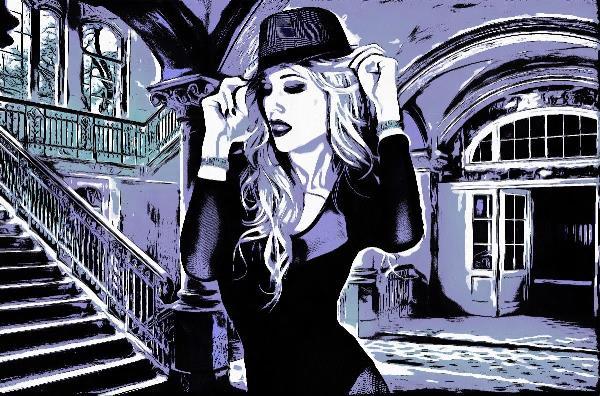 Chic Lady Purple Comic