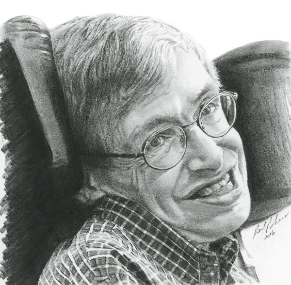 """A Timeless Smile """"Stephen Hawking"""""""