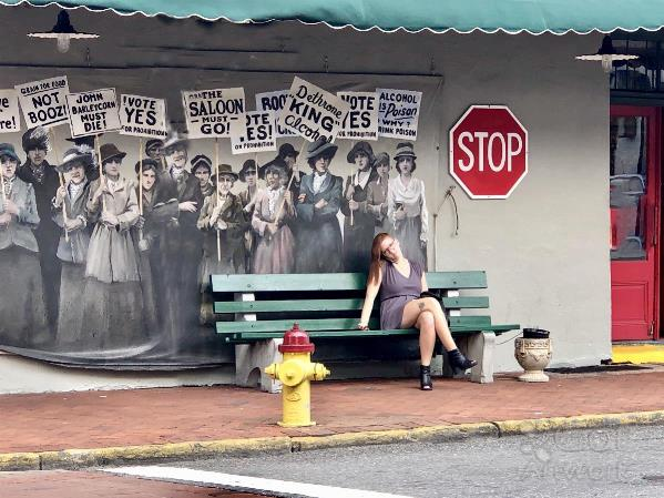 Savannah Bus Stop Photo