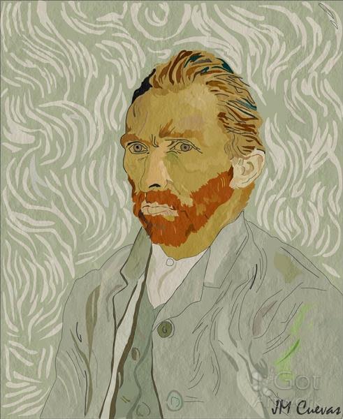 Copia Autorretrato De Van Gogh