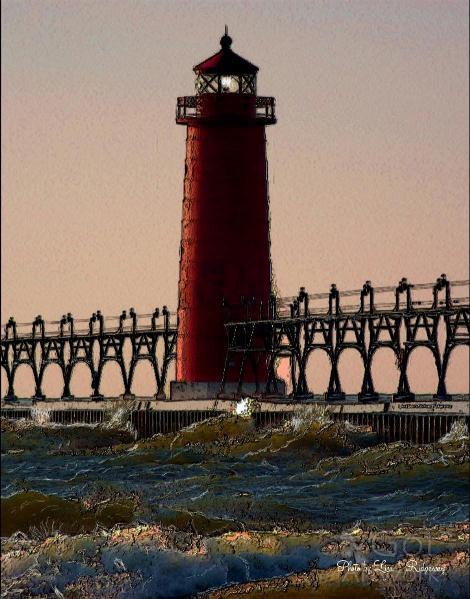 Oil Light House Beach