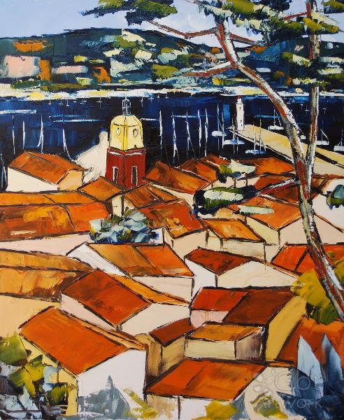 Colors Of Saint Tropez Roofs