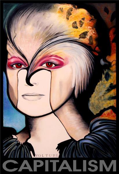 Capitalism Portrait Woman Big Face