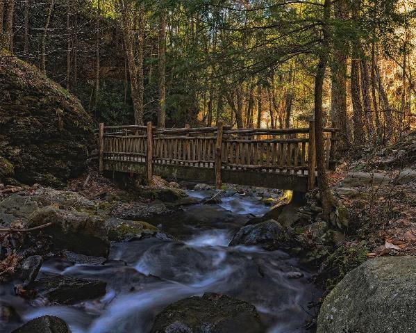 Old Wooden Bridge Over Pond Run Creek