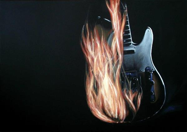 Burning Telecaster