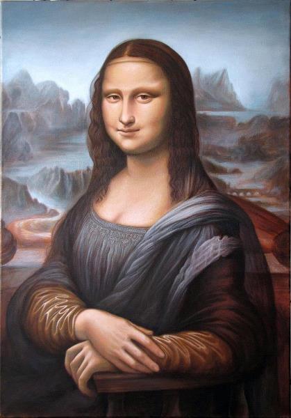 """Copy Of Leonardo Da Vinci """"Monalisa"""""""