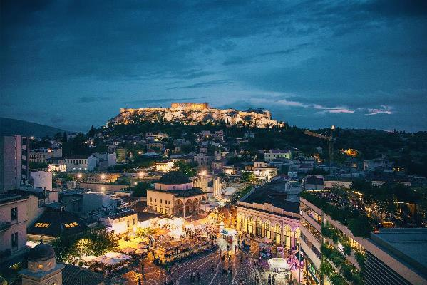 Athens Greece At Dusk