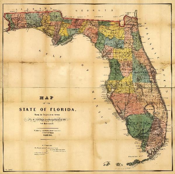 Map Of Florida (1856)