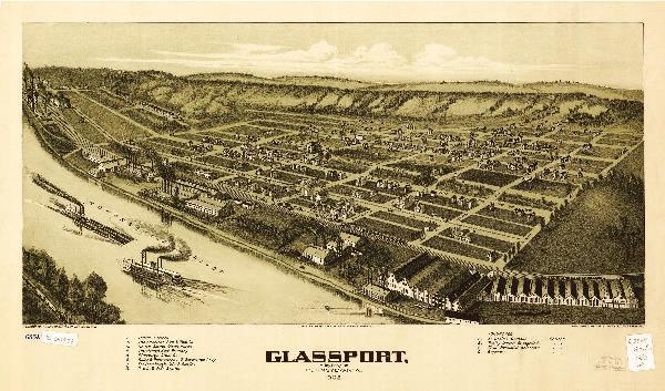 Aerial View Of Glassport, Pennsylvania (1902)