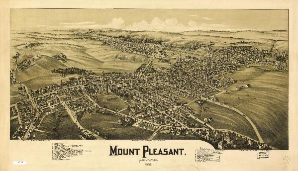 Aerial View Of Mount Pleasant, Pennsylvania (1900)
