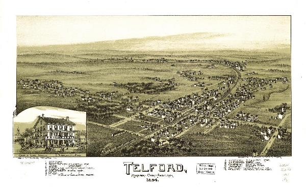 Aerial View Of Telford, Pennsylvania (1894)