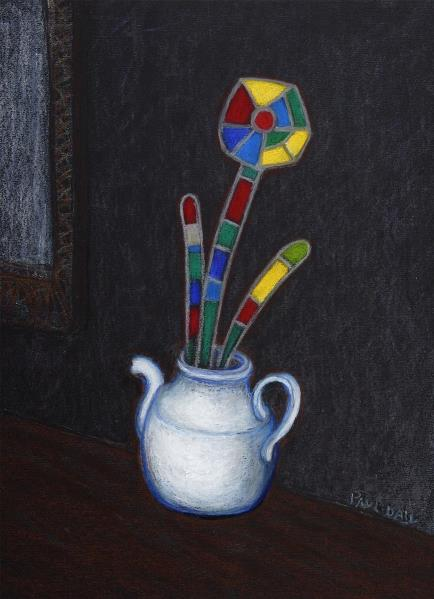 Abstract Flower In A Teapot
