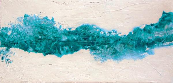 Large Fluid Abstract Painting INTO THE WAKE