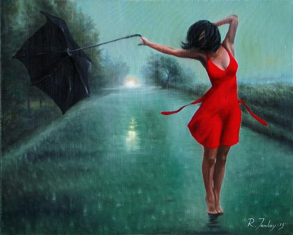 Dancing In The Rain Painting By Rauf Janibekov ...
