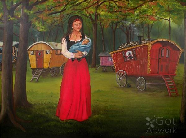 Romany Mother And Child