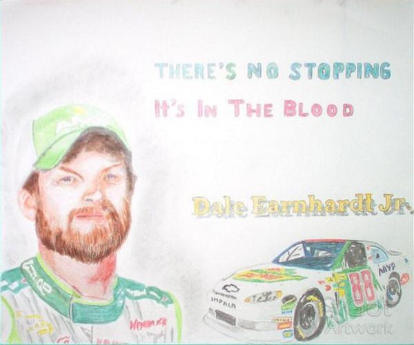 Dale Jr Colored Pencil