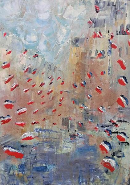 After Monet's Rue Montorgueil