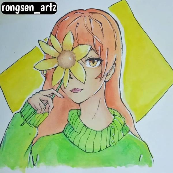 Anime Flower Girl