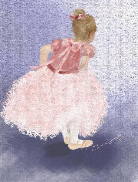 Child Ballerina Awaiting The Moment_by Susan Lipschutz