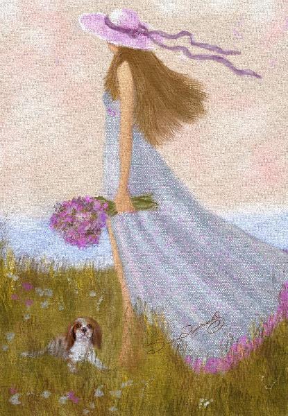 GIRL AND A SUMMER BREEZE_by Susan Lipschutz