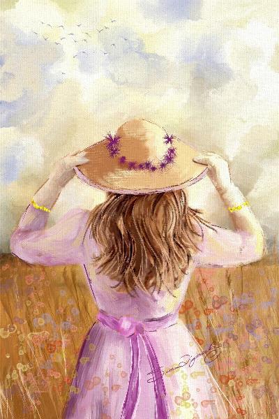 GIRL IN A STRAW HAT_by Susan Lipschutz