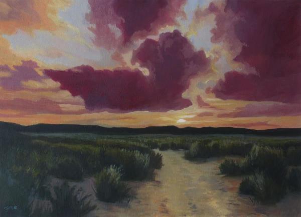 Desert Trail At Dusk