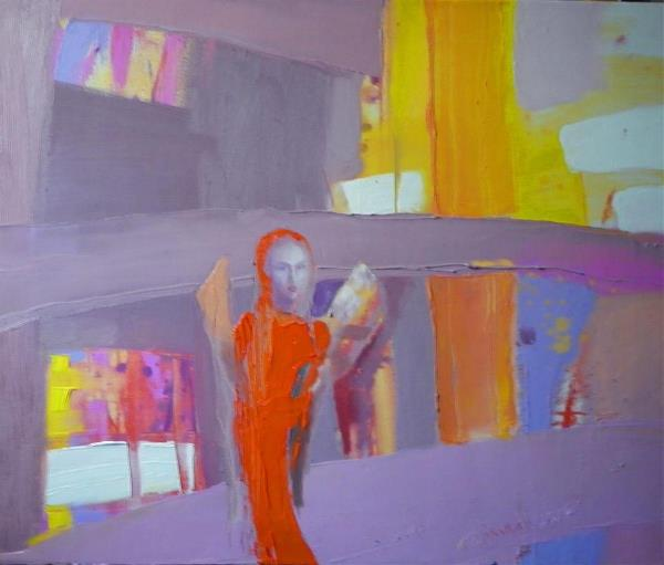 """Orange Angel"".2012. Oil On Canvas. Cm.40x50."