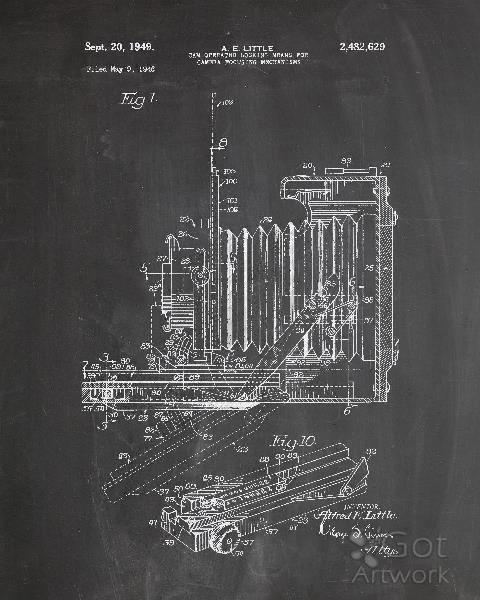 Vintage Camera Patent Chalk