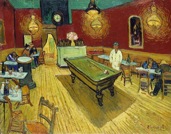 Le Cafe De Nuit By Vincent Van Gogh