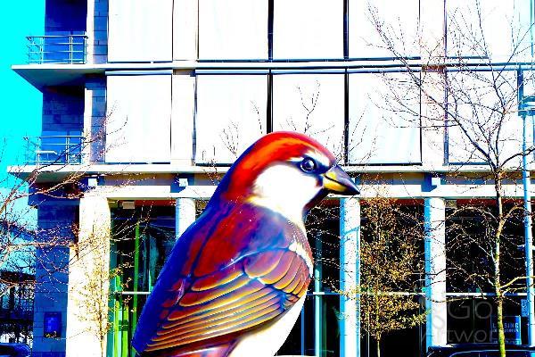 A Still Picture Of A Bird Statue