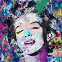 Marilyn_Monroe Blue As Framed Poster