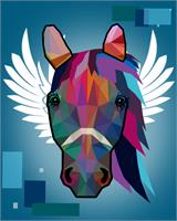 WPAP Horse As Poster