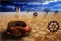 Left To Dry By Desert As Framed Poster