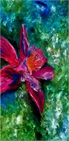Impression Of Columbine As Greeting Card