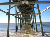 Oak Island Fishing Pier As Framed Poster