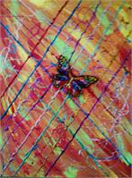 Modern Abstract Butterfly As Calendar