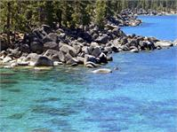 Pines Boulders And Crystal Waters Of Lake Tahoe