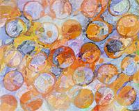 Multicolor Eroded Circle Abstract As Poster