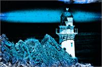 Midnight Blue Lighthouse