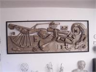 Recycled Relief Sculpture