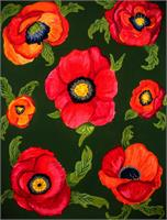 Fiery Poppies As Poster