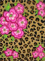Floral Leopard Print As Framed Poster