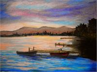 Sunset In Evia As Greeting Card