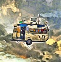 Flying Caravan As Framed Poster