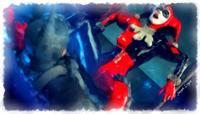 Harley Quinn Fighting Batman