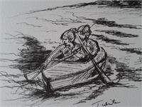 Paddling The Boat