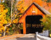 Fall At The Covered Bridge WC