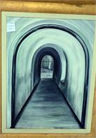 Point Nepean Tunnel Oil On Canvas 2312in 17.5xin13.5in